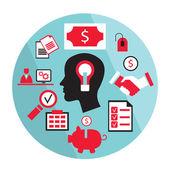 Bright idea business concept — Stock Vector