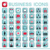 Set di icone web per la comunicazione di finanza aziendale — Vetor de Stock