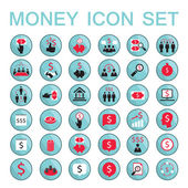 Set icons business success saving earning money — Stock Vector