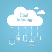 Cloud technology illustration — Stock Vector