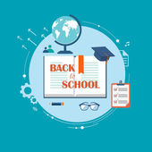 Back to school flat illustration — Stock Vector