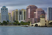 West Palm Beach Skyline — Stock Photo