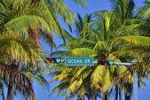 Ocean Drive Street Sign — Stock Photo