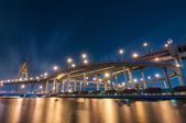 The Bhumibol Bridge (also known as the Industrial Ring Road Brid — Stock Photo