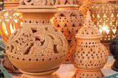 Beautiful Thai style designs on pottery — Foto Stock