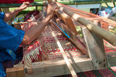 How to make Thai sedge mat  — Stock Photo