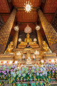 Beautiful buddha image in phra ubosot at Wat Hong Rattanaram Rat — Stock Photo