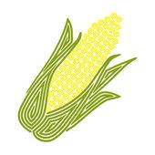 Corn plant — Stock Vector