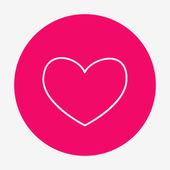 Single flat heart contour icon. — Stock Vector