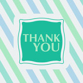 Thank you note on the striped background.  — Stock Vector