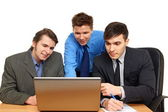 Business partners thinking — Stock Photo