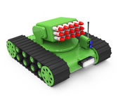 Tank with rockets — Stock Photo