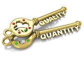 Quality and quantity — Stock Photo