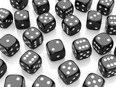 The black dices — Stock Photo