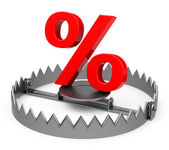The percent trap — Stock Photo