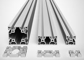 The metal profiles — Stock Photo