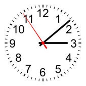 The simple clock — Stockfoto