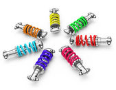 Colorful dampers — Stock Photo