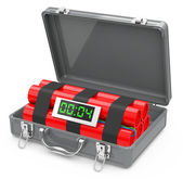 The suitcase bomb — Stock Photo