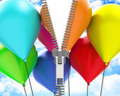 The colorful balloons — Stockfoto