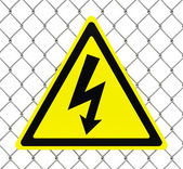 Hazard high voltage sign — Stockfoto