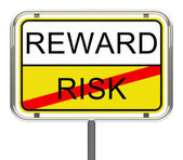 Risk and reward — 图库照片