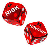 Risk and reward dices — 图库照片