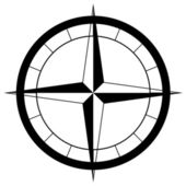 The compass rose — Stock Photo