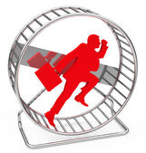 The hamster wheel — Stock Photo