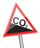 Carbon dioxide sign — Stock Photo
