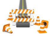 The roadblock — Stock Photo