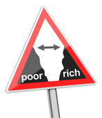 Gap between poor and rich — 图库照片