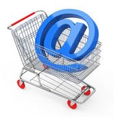 The shopping cart — Stock Photo