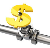 The money valve — Stockfoto