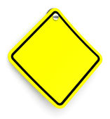 The yellow traffic sign — Stock Photo
