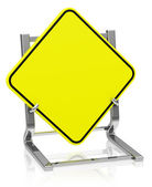 The blank traffic sign — Stock Photo