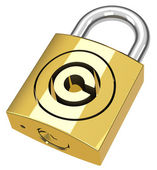 The copyright padlock — Stockfoto