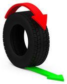 The car tire — Stock Photo