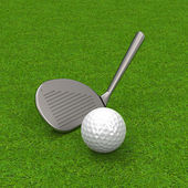 The golf game — Stock Photo