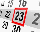 The calendar — Stock Photo