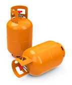 The gas bottles — Stock Photo