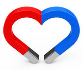 The magnet heart — Stock Photo