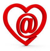 The e-mail heart — Stock Photo
