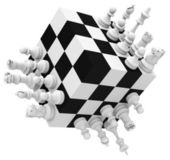 The crazy chess game — Stock Photo