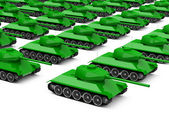 The military tanks — Stock Photo