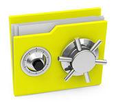 The locked folder — Stock Photo