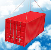The red container — Stock Photo