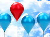 červený balónek — Stock fotografie