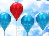 The red head balloon — Stock Photo