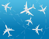 The airplanes — Stock Photo